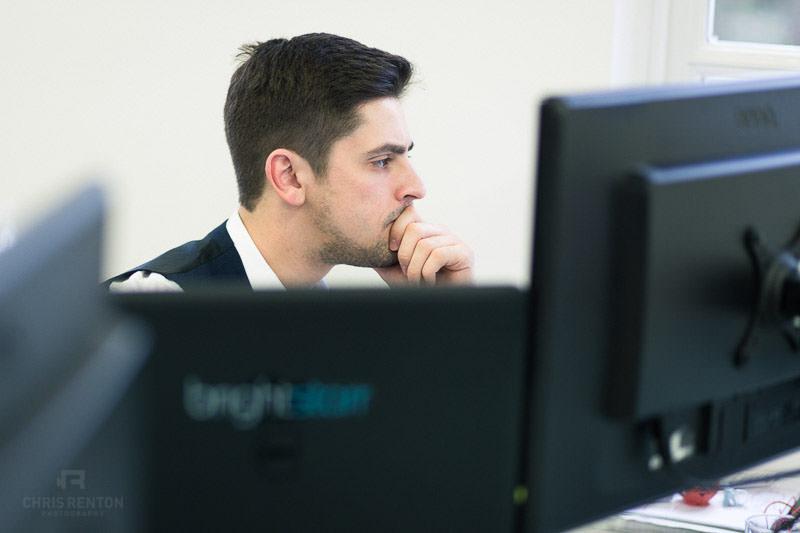 corporate portrait desk young male