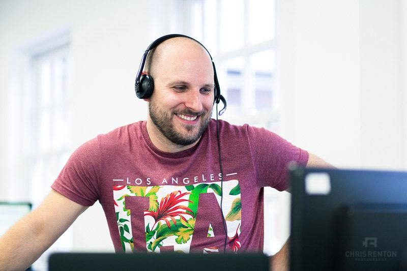 tech company portrait smiling male