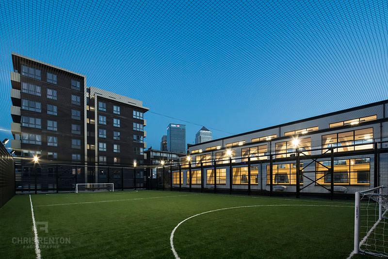 Poplar Baths London football pitch